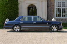 Yorkshire Wedding Cars - Paecock Blue Bentley Arnage RL. Based near Harrogate, North Yorkshire
