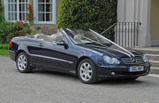 Yorkshire Wedding Cars - Mercedes CLK 320 convertible. Based near Harrogate, North Yorkshire