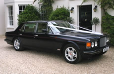 Yorkshire Wedding Cars - Midnight Blue Bentley Turbo RL. Based near Harrogate, North Yorkshire