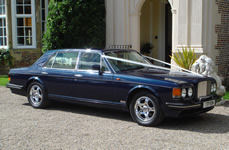 Yorkshire Wedding Cars - Royal Blue Bentley Turbo RL. Based near Harrogate, North Yorkshire